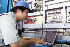 機械の電気面での保全